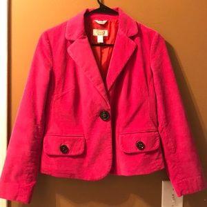 Hot pink Talbots corduroy jacket